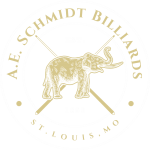 A.E. Schmidt Logo Pool Tables Billiards History Founded in 1850 in St Louis Missouri Family Immigrated from Germany