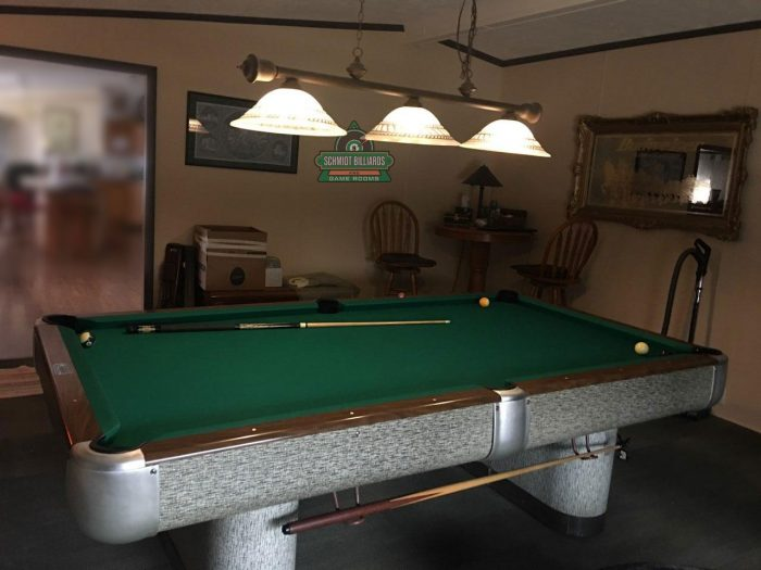 AE Schmidt Comet Professional 8 Foot Full Size Pool Table in Original 1960s Mint Condition by Schmidt Billiards and Game Rooms in Columbia Missouri