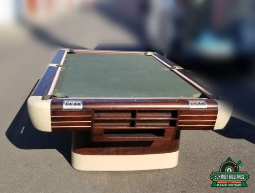 Classic 9 foot Brunswick Anniversary Pool Table Restored and Refinished Circa 1945 Historic Used Tables by Schmidt Billiards and Game Rooms in Columbia Missouri