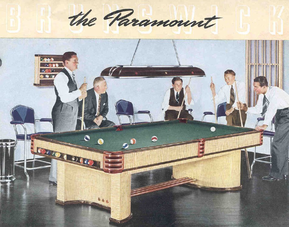Paramount Pool Table by Brunswick from 1939 Worlds Fair Winner for Best Design Used Tables by Schmidt Billiards and Game Rooms in Columbia MO