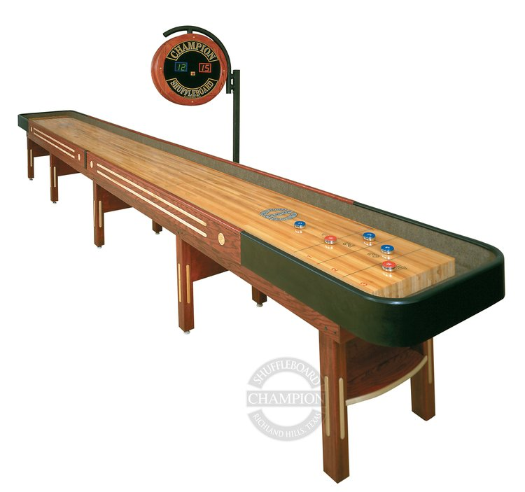 The Grand Champion Shuffleboard available at Schmidt Billiards and Game Rooms in Columbia, Missouri